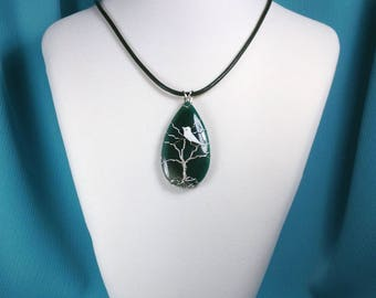 Wire Wrapped Tree of Life Gemstone Necklace
