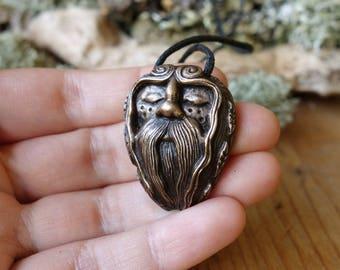 Diarmuid  - Celtic Druid - Guardian of the Forest - Bronze Talisman (Pendant/Amulet)