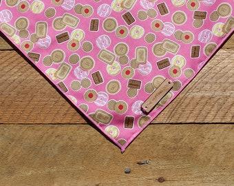 Biscuit Dog Bandana//Dog Scarf//Dog Neckwear//Pink Dog Bandana //Puppy Bandana//Puppy Scarf//Tea//Teatime//Bourbon//Party Ring