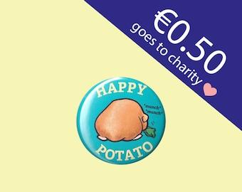 Happy Potato Guinea Pig Button 38 mm