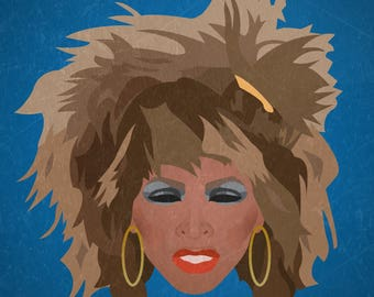 Minimalist Print inspired by Tina Turner