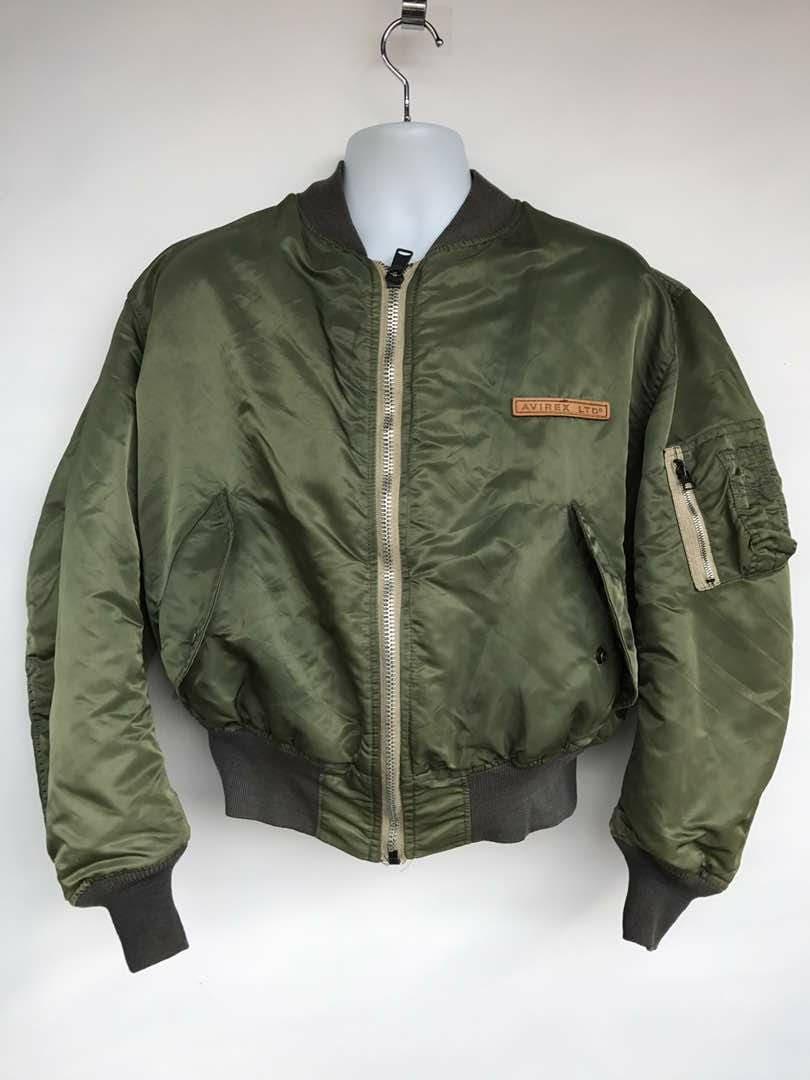 fba7282fb96 Vintage AVIREX flight Jacket   bomber jacket made in USA