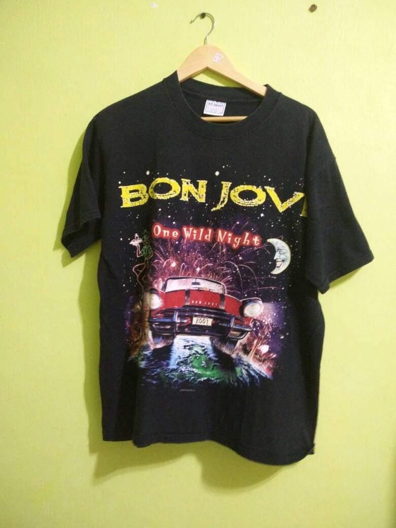 Vintage 90s Bon Jovi one wild night tour shirt  f76e01fbf6a4