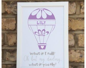 Personalised quote print   Children's quote   Nursery decor   Children's quote