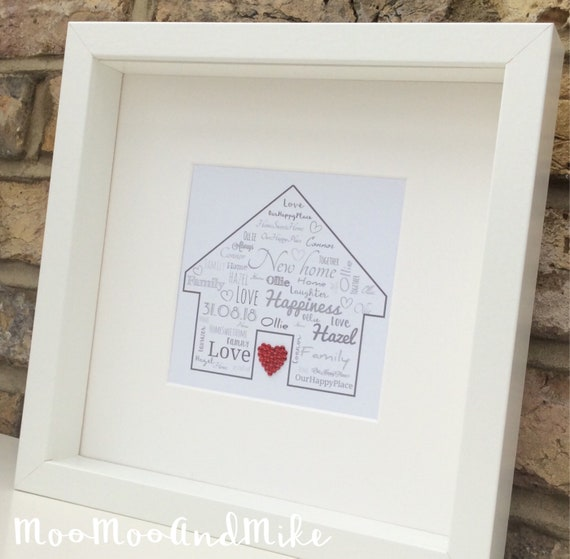 Personalised New Home Print New Home Gift Wedding Gift Etsy