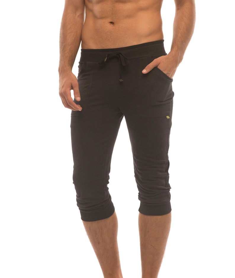 852f1e57dd4c3 Mens Cuffed Yoga Pants | Etsy
