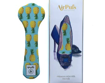 Pineapple Punch Airpufs. Marshmallow shoe cushions, Cheery yellow soft cloud shoe insoles for heels