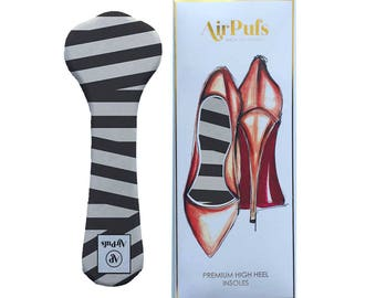 Audrey Stripes Airpufs, Black and White Striped Shoe Insoles