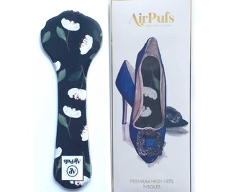 Peonies Dark Airpufs High Heel Insoles