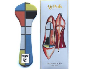 Bauhaus Geometric Airpufs. Super thin High Heel Insoles for Women