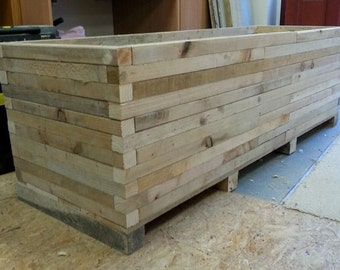 Wooden Planters Etsy