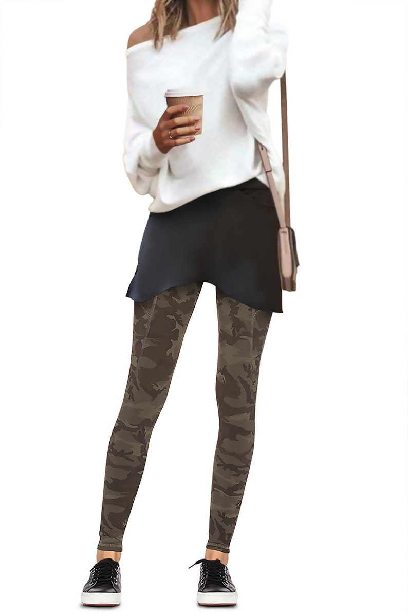 Black spandex Audrey Booty Shawl pixie skirt shirt extender image 0