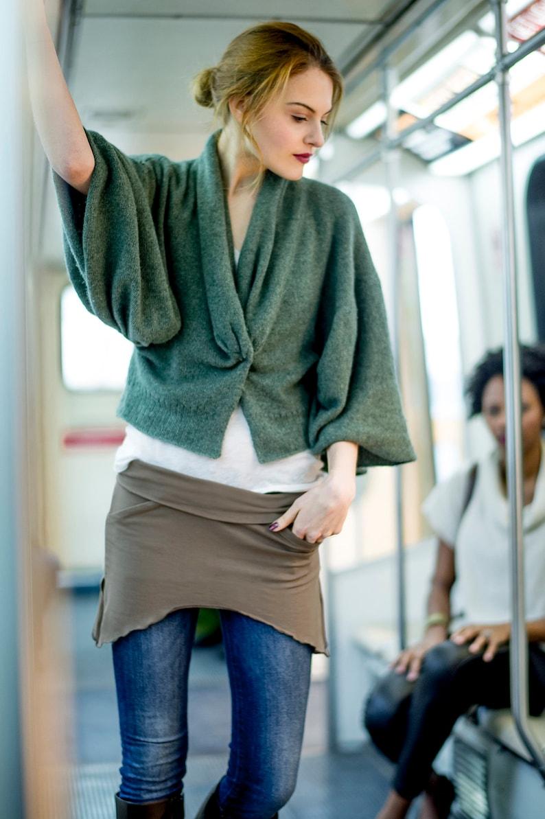Audrey Hipburn Booty Shawl shirt extender festival skirt image 0