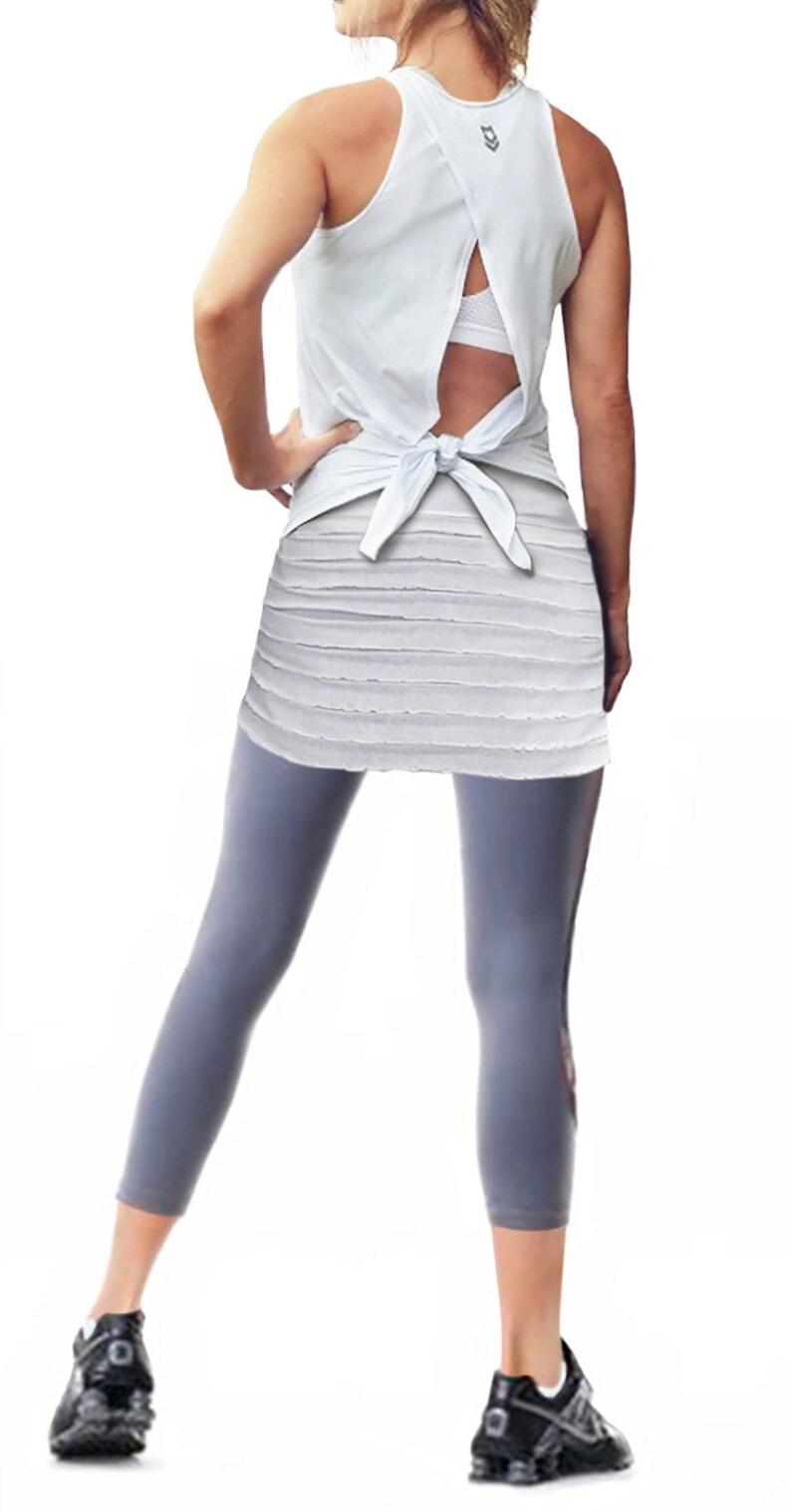 NEW VANILLA RUFFLE Lauren Bashawl Booty Shawl shirt extender image 0