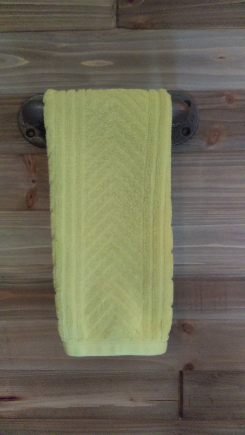 towel rod Rustic Cottage Chic style 12 Bathroom Pipe Hand Towel Holder towel rack