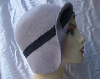 Cloche Hat, 20s Hat, 20s Style Hat, Vintage Style Hat, Retro Hat, Felt Hat, Winter Hat, Fascinator, Handmade Hat