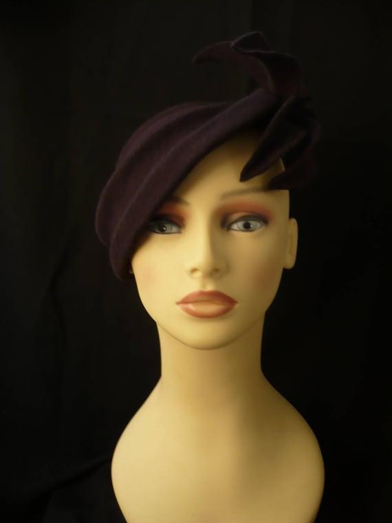 50s Style Hat 50s fascinator 50s hat Vintage style hat  c43bbd4c2ba