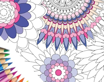 Mandala Colouring Page 1, Fully Scalable Vector PDF File