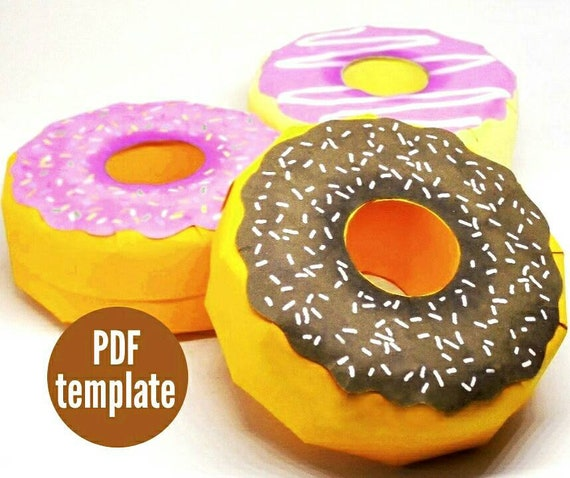 doughnut favour box diy doughnut favor donut centrepiece etsy