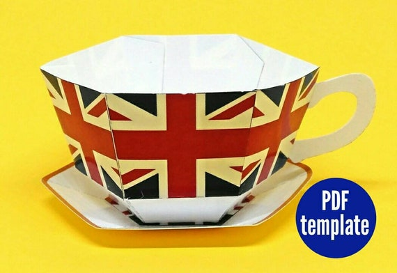 Union Flag Teacup And Saucer Favour Royal Wedding Party Gift