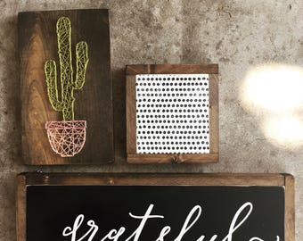 grateful Home Decor Painted Sign / Mantelpiece / Entryway Artwork / Inspriational Signage