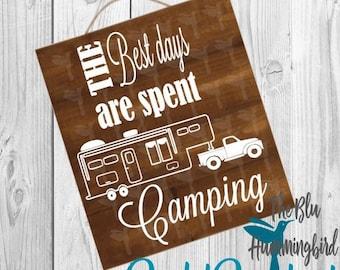 5th Wheel Camping Svg File Camper Files Cut SVG Cricut Silhouette