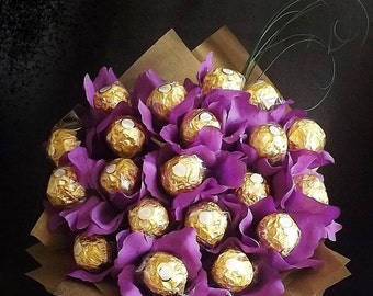 Ferrero Rocher Chocolate Bouquet-Hamper, perfect for Birthdays, Weddings, Special Occasions, Anniversary, Graduation, Farewell, get well