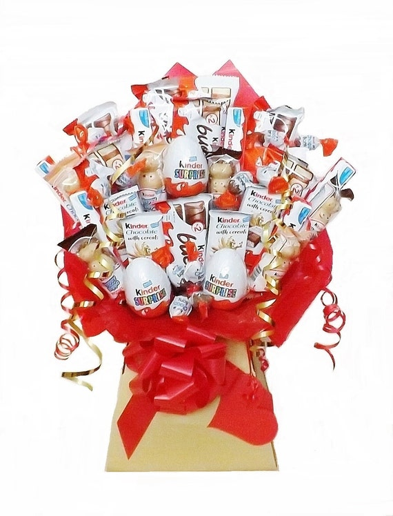 Kinder Chocolate Bouquet Sweet Hamper Christmas Birthday | Etsy