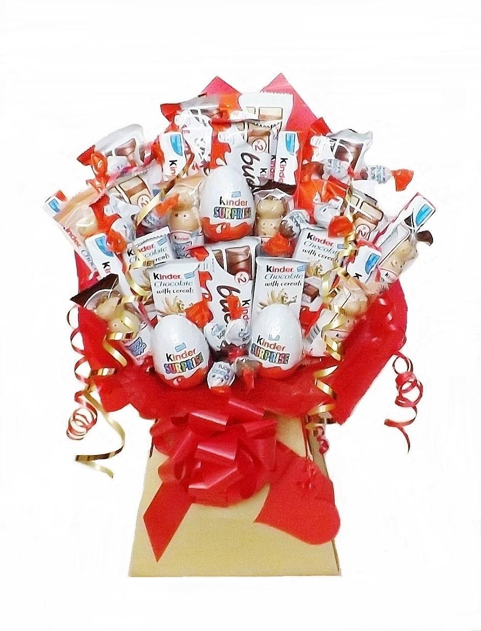 Kinder chocolate bouquet sweet hamper christmas birthday etsy zoom izmirmasajfo