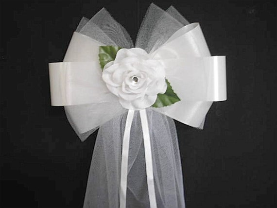 Wedding Pew End Bows church  flowers decorations  top table personalised plain