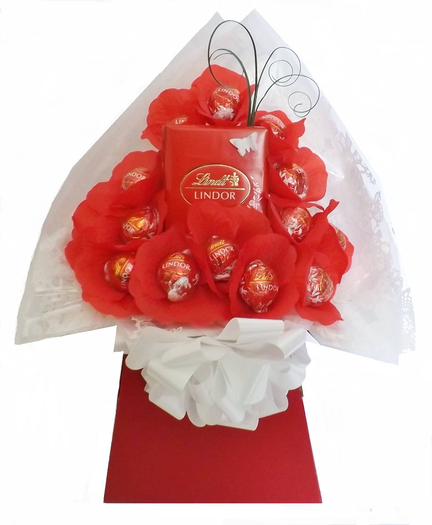 Lindt lindor chocolate flower bouquet mothers day etsy zoom izmirmasajfo