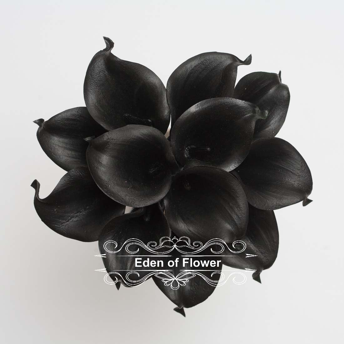 Black Calla Lilies Real Touch Calla Lily Bouqet For Bridal Etsy