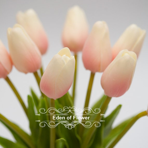 Light Pink Tulip Real Touch Flowers For Bridal Bouquets Etsy