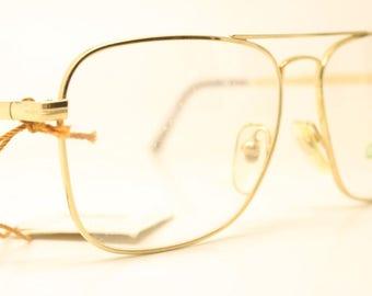 4ce10501f05 Galileo Gold Aviator Vintage Eyeglasses Unused New Old stock Vintage  Eyewear 1990s Vintage Glasses Unique