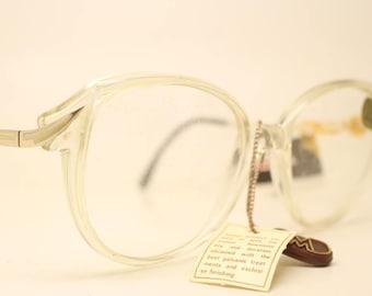 b24ba762326 Marcolin Gold Clear Vintage Eyewear Unused New Old stock Vintage Eyeglasses  1990s Vintage Glasses Unique