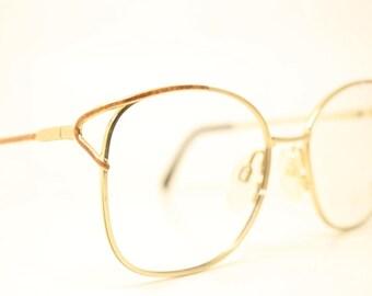 16e0ff9ae1e Gold Tortoise Vintage Eyewear Unused New Old stock Vintage Eyeglasses 1990s  Vintage Glasses Unique