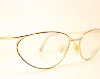 92ea96876e2 Genny Gold Tortoise Vintage Eyewear Unused New Old stock Vintage Eyeglasses  1990s Vintage Glasses Unique