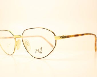 2be70a674eb Ciak By Visibilia Gold Tortoise Vintage Eyewear Unused New Old stock Vintage  Eyeglasses 1990s Vintage Glasses Unique