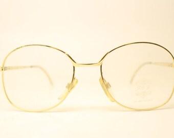 aee5b6e547f Gold Vintage Eyewear Unused New Old stock Vintage Eyeglasses 1990s Vintage  Glasses Unique