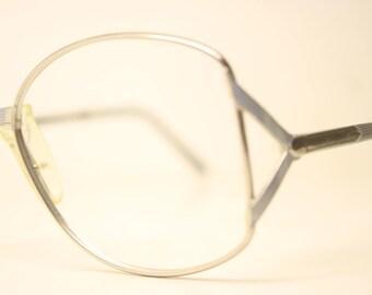 58131f3dcc2a Safilo Elasta Blue Silver Vintage Glasses Frames Unused New Old stock Vintage  Eyeglasses 1990s Vintage Eyeglasses Unique