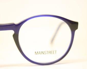 c4d99dba9f2 Blue P3 Mainstreet Vintage Eyeglasses Unused New Old stock Vintage Eyewear  1990s Vintage Glasses Unique