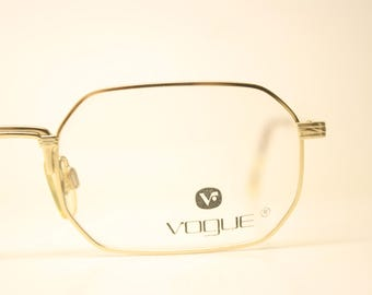 ae91c66ac6 Octagonal Gold Tortoise Vogue Vintage Glasses Frames Unused New Old stock  Vintage Eyeglasses 1990s Vintage Eyeglasses Unique