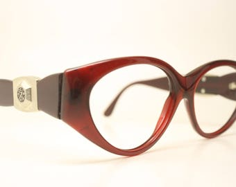 214a4ccd5b3 Dierre Lozza Italy Red Cateye Vintage Eyewear Unused New Old stock Vintage  Eyeglasses 1990s Vintage Glasses Unique