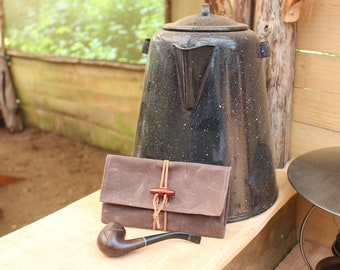 Waxed Canvas Roll Up Pouch for your Pocket Stove,Compass, Pipe, Your Adventures, Outdoors and Everyday Living