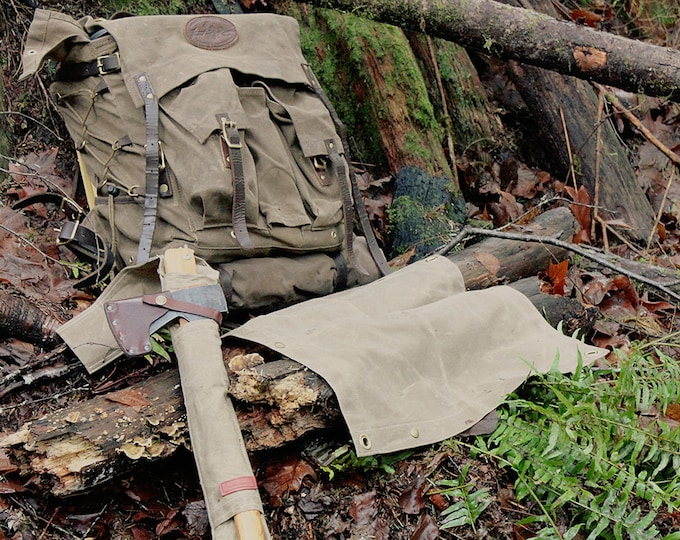 Waxed Canvas Ground Cloth Junior  for Bushcraft, Outdoor Gear, Camping and Gardening