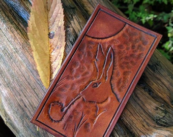 Smoking Rabbit Leather Patch  for your Adventures, Bushcraft and Everyday by PNW Bushcraft