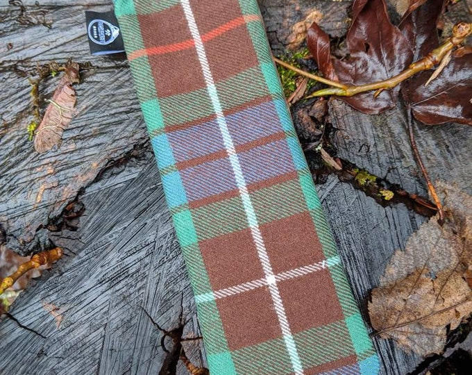 Handmade Waxed Canvas and Plaid Wool Spork Bag for Bushcraft, Camping and the Great Outdoors