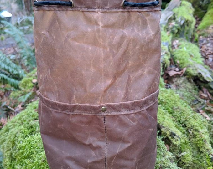 The Cedar Lite Bag in Brown for Gear, Cook Set, Bushcraft, Camping and the Great Outdoors  PNW Bushcraft
