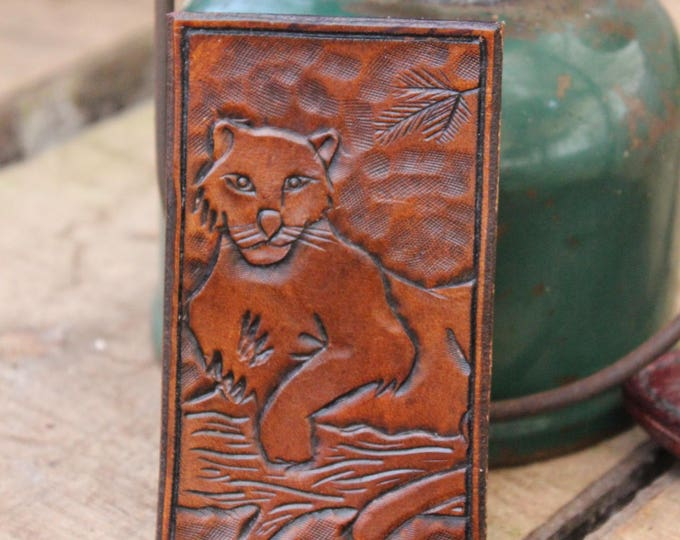 Panther Hand Carved Leather Patch  for your Adventures, Bushcraft and Everyday by PNW Bushcraft