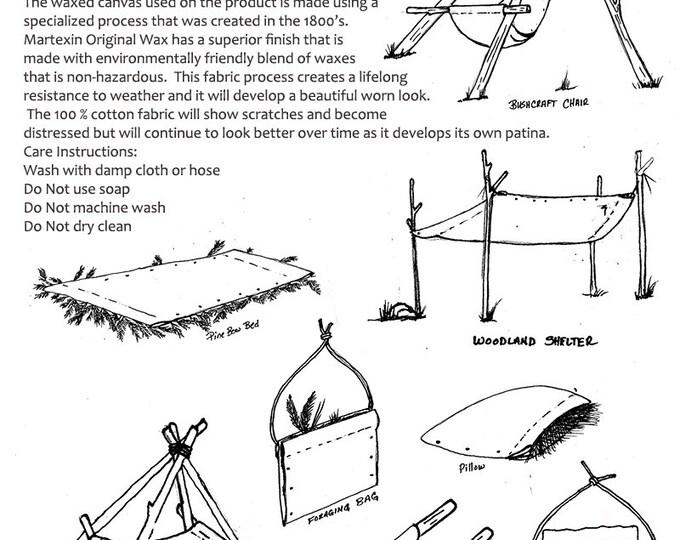 PRE Order PNWBushcraft Waxed Canvas Ground Cloth, Hammock Chair, Bushcraft, Outdoor Gear, Camping, Hiking and Adventure